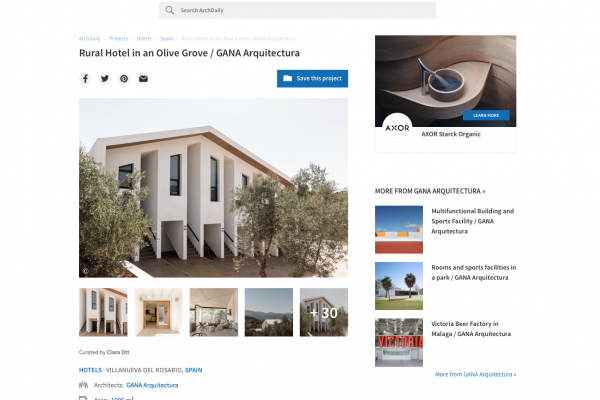 Our project for Fresneda Maria Rural Hotel has been published by Archdaily